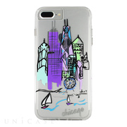 【iPhone8 Plus/7 Plus ケース】Hybrid Tough Naked Case Designers CITY Prints (CHICAGO/SKYLINE)