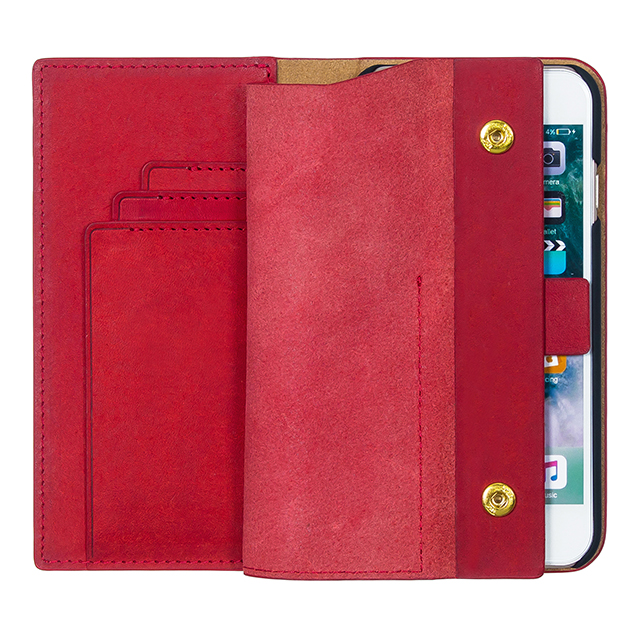 【iPhone8/7 ケース】Modern Snap Wallet (Red)サブ画像