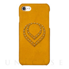【iPhone7 ケース】Classic Back Cover (Yellow)【レザー】