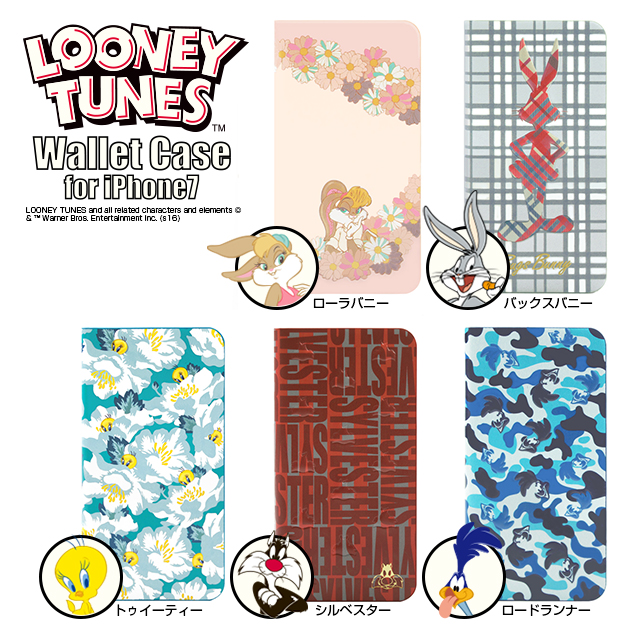 【iPhone8/7 ケース】LOONEY TUNES ウォレットケース for iPhone7(Sylvester)