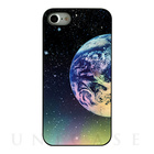 【iPhone7 ケース】Twinkle Case Earth&Moon (Earth Right)