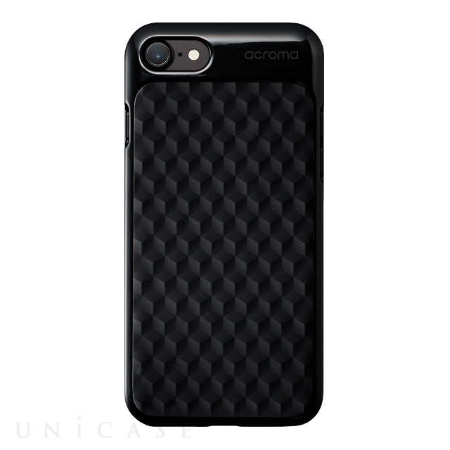 【iPhone8/7 ケース】Texture case for iPhone7(Hexagon Black)