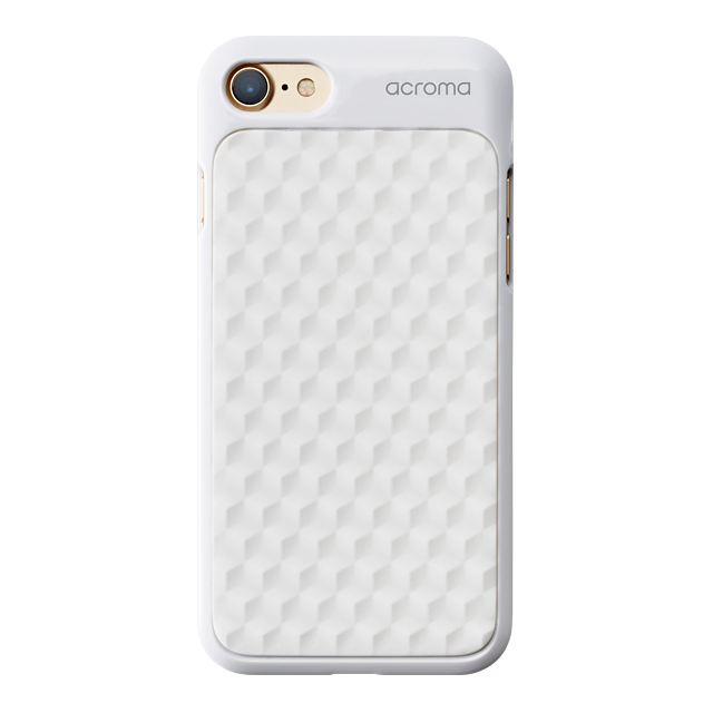 【iPhone8/7 ケース】Texture case for iPhone7(Hexagon White)サブ画像