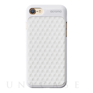 【iPhone7 ケース】Texture case (Hexagon White)