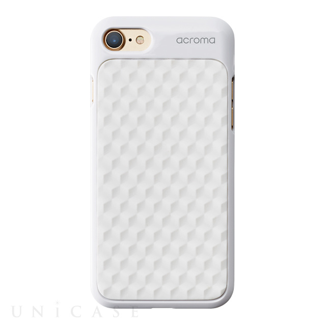 【iPhone8/7 ケース】Texture case for iPhone7(Hexagon White)