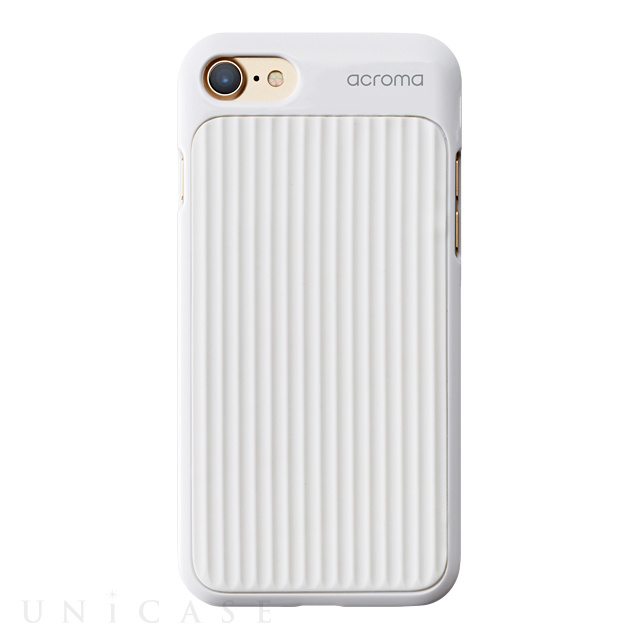 【iPhone8/7 ケース】Texture case for iPhone7(Line White)
