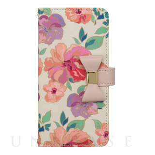 【iPhone8/7/6s/6 ケース】Flower Series wallet case for iPhone7/6s/6(Warm Pink)