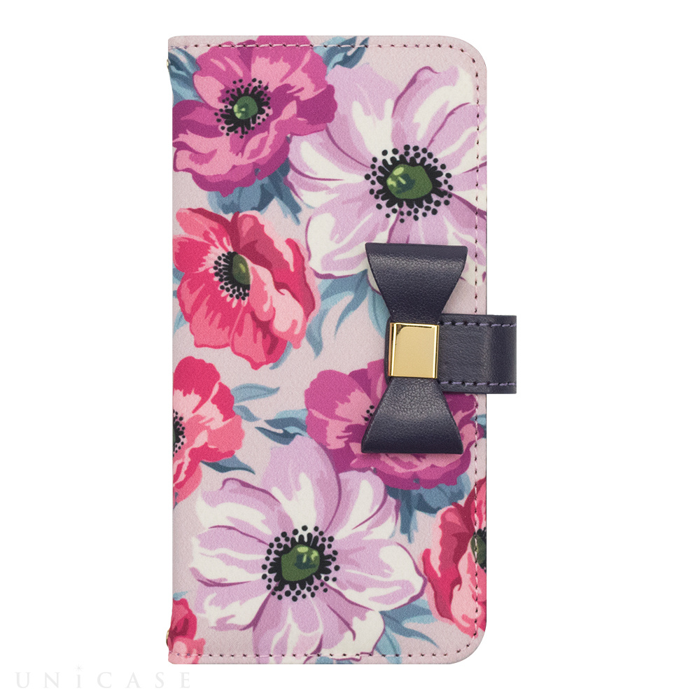 【iPhoneSE(第2世代)/8/7/6s/6 ケース】Flower Series wallet case for iPhone7/6s/6(Purple Anemone)