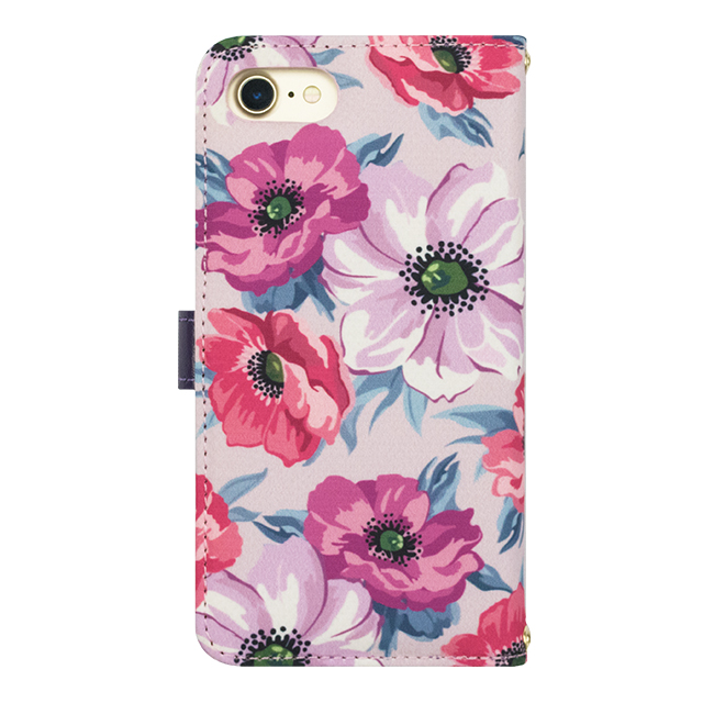 【iPhoneSE(第2世代)/8/7/6s/6 ケース】Flower Series wallet case for iPhone7/6s/6(Purple Anemone)サブ画像