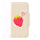【iPhone7/6s/6 ケース】Fruits in Juice iPhone case (Strawberry)