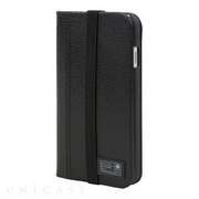 【iPhone7 ケース】ICON WALLET (BLACK LEATHER)