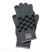 CHECK KNIT GLOVE (グレー)