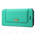 "【iPhone7 ケース】Bag Type Leather Case ""Sac"" (Turquoise)"