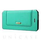 "【iPhone7 Plus ケース】Bag Type Leather Case ""Sac"" (Turquoise)"