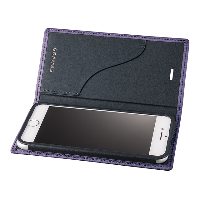 【iPhone8/7 ケース】Shrunken-calf Leather Case (Purple)サブ画像