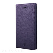 【iPhone8/7 ケース】Shrunken-calf Leather Case (Purple)