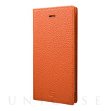 【iPhone8/7 ケース】Shrunken-calf Leather Case (Orange)