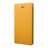 【iPhone8/7 ケース】Shrunken-calf Leather Case (Yellow)