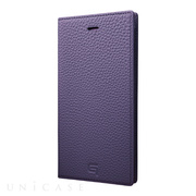 【iPhone8 Plus/7 Plus ケース】Shrunken-calf Leather Case (Purple)