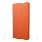 【iPhone7 Plus ケース】Shrunken-calf Leather Case (Orange)
