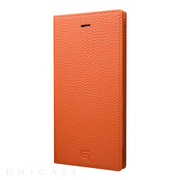 【iPhone8 Plus/7 Plus ケース】Shrunken-calf Leather Case (Orange)