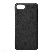 【iPhone8/7 ケース】Embossed Grain Leather Case (Black)