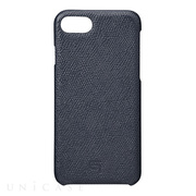 【iPhone8/7 ケース】Embossed Grain Leather Case (Navy)