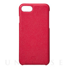 【iPhone7 ケース】Embossed Grain Leather Case (Red)【レザー】