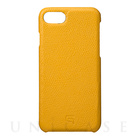 【iPhone7 ケース】Embossed Grain Leather Case (Yellow)【レザー】