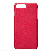 【iPhone8 Plus/7 Plus ケース】Embossed Grain Leather Case (Red)