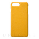 【iPhone7 Plus ケース】Embossed Grain Leather Case (Yellow)