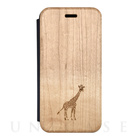 【iPhone7 ケース】Maple Flip Case (GIRAFFE)