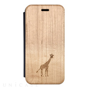 【iPhone8/7/6s/6 ケース】Maple Flip Case (GIRAFFE)