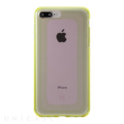 "【iPhone8 Plus/7 Plus ケース】""GEMS"" Hybrid Case (Rose Quartz Light Pink×Lime Green)"