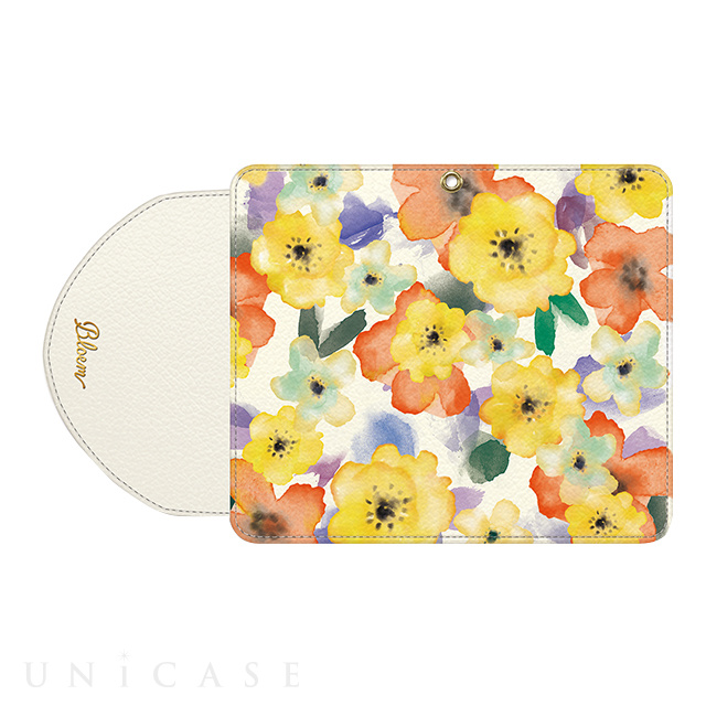 【マルチ スマホケース】Bloem (Ladylike flower white)