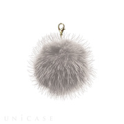Bloem Fur pompom charm (Light gr...