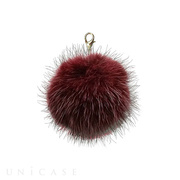 Bloem Fur pompom charm (Wine red...