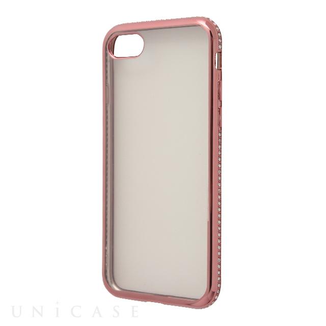 【iPhone8 Plus/7 Plus ケース】メタリックダイアモンド (ピンク) AMVAR ...