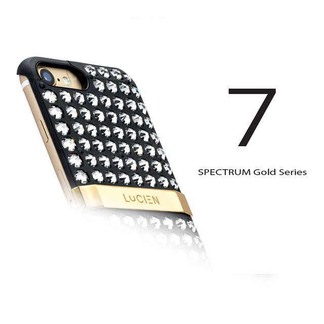 【iPhone8/7 ケース】CRYSTALLINE SPECTRUM Gold Series (Black)サブ画像
