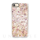 【iPhone7 ケース】Dusty Rose and Coral Art Deco Marbling Pattern
