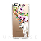 【iPhone7 ケース】Deer Head Skull and Floral