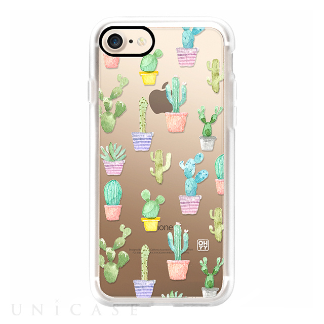 【iPhone8/7 ケース】Watercolour pastel cuctus hot summer by imushstore