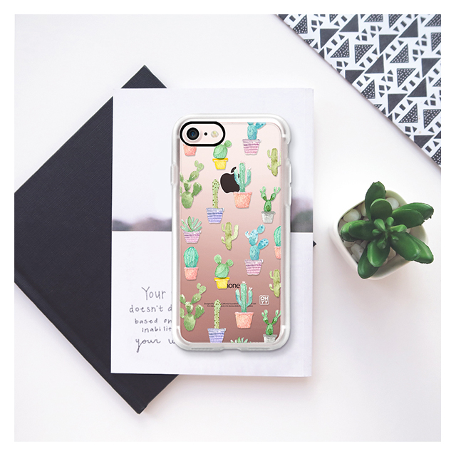 【iPhone8/7 ケース】Watercolour pastel cuctus hot summer by imushstoreサブ画像