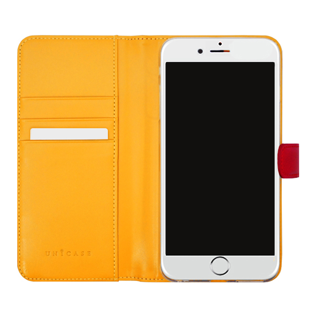 【iPhoneSE(第2世代)/8/7 ケース】COWSKIN Diary (Red×Buttercup)