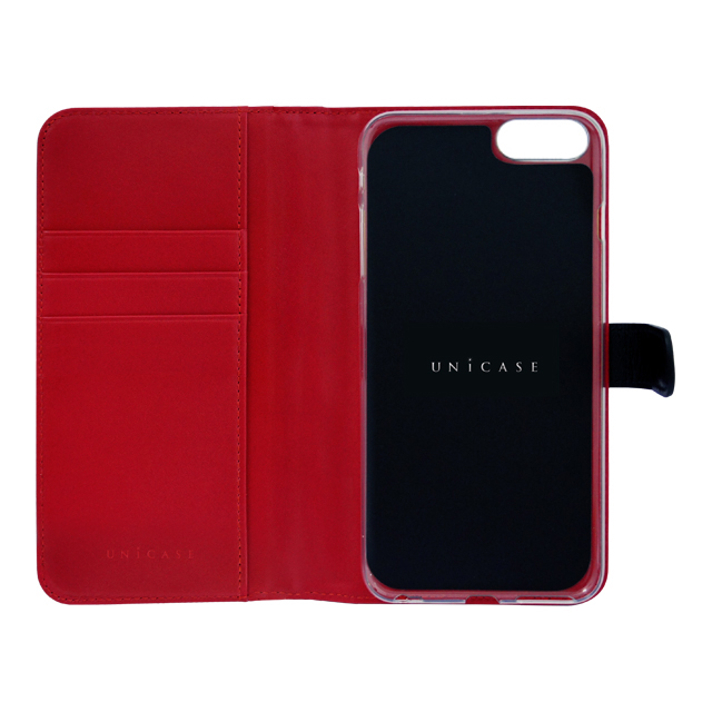 【iPhoneSE(第2世代)/8/7 ケース】COWSKIN Diary (Black×Red)goods_nameサブ画像