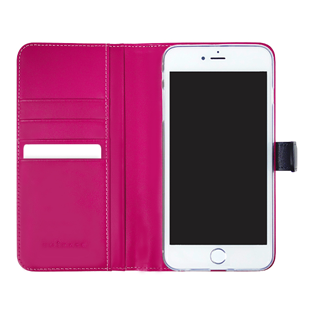 【iPhone8 Plus/7 Plus ケース】COWSKIN Diary (Navy×Pink)サブ画像