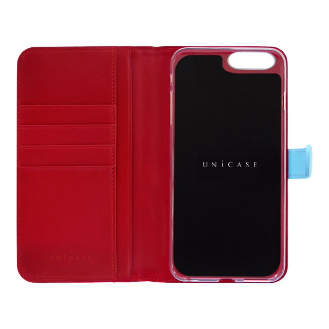 【iPhone8 Plus/7 Plus ケース】COWSKIN Diary (Blue×Red)サブ画像