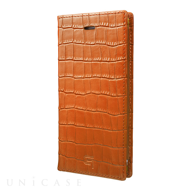【iPhone8/7 ケース】Croco Patterned Full Leather Case (Tan)