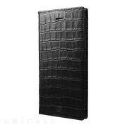 【iPhone8 Plus/7 Plus ケース】Croco Patterned Full Leather Case (Black)