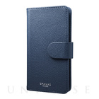 "【マルチ スマホケース】""EveryCa"" Multi PU Leather Case for Smartphone M (Navy)"